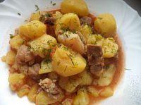 Фото к рецепту: Жаркое из свинины с картошкой