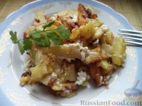 Фото к рецепту: Картофель по-деревенски