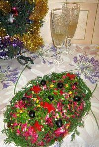 Фото к рецепту: Салат «Селедка под шубой» (новогодний вариант)