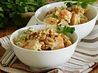 Фото к рецепту: Тушеная тыква в сметане с чесноком