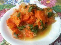 Фото к рецепту: Тыква, тушенная с овощами