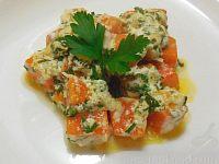 Фото к рецепту: Тыква в сметанно-чесночном соусе